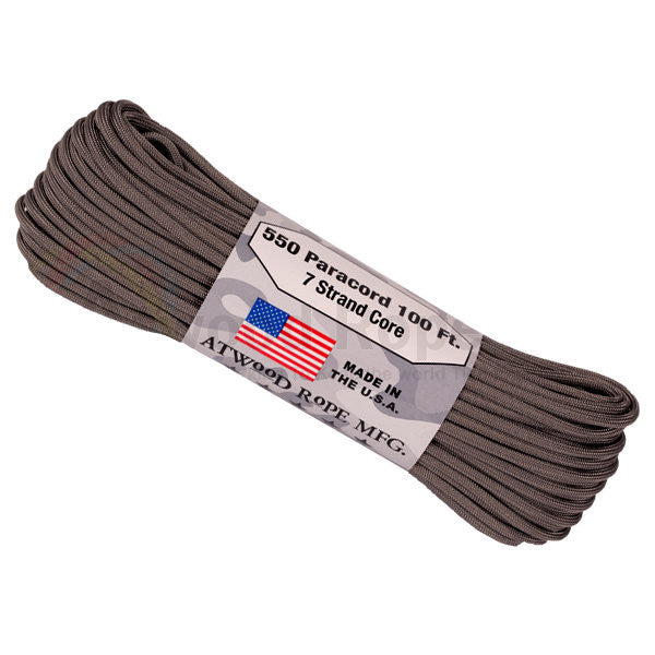 100Ft 550 Paracord Graphite - Indy Army Navy