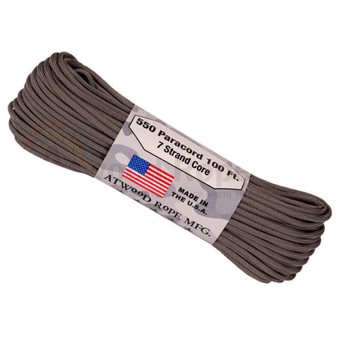 100Ft 550 Paracord Graphite