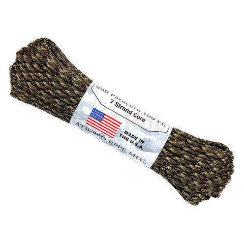100Ft 550 Paracord Ground War - Indy Army Navy