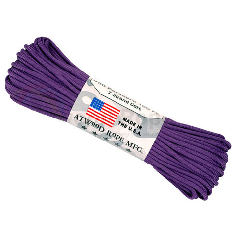 100Ft 550 Paracord Purple - Indy Army Navy
