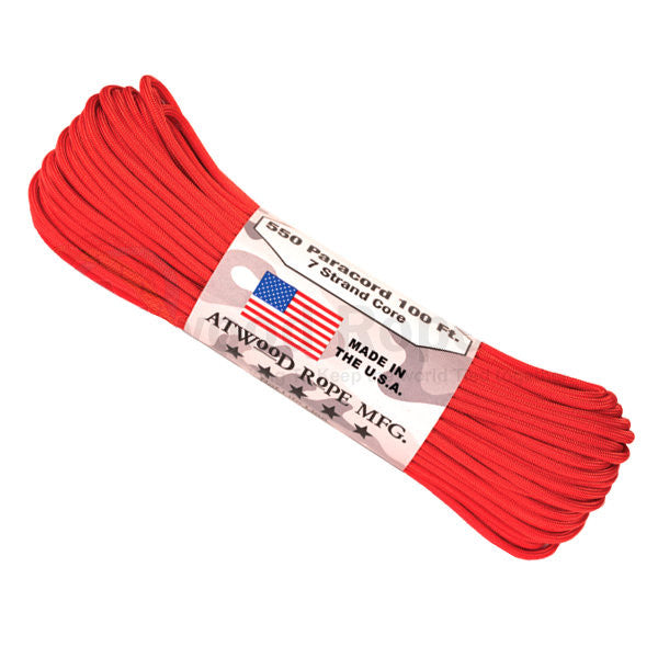 100Ft 550 Paracord Red - Indy Army Navy