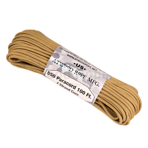 100Ft 550 Paracord Tan - Indy Army Navy
