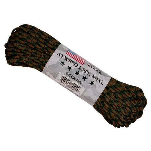 100Ft 550 Paracord Woodland Camouflage