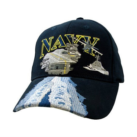 Blue USN w/Aircraft Carrier Hat