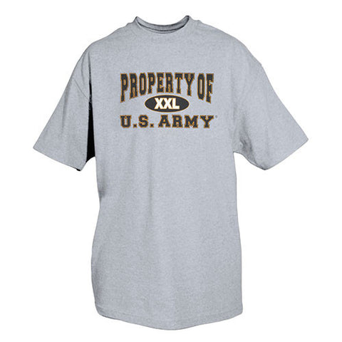 Grey Property of US Army T-Shirt
