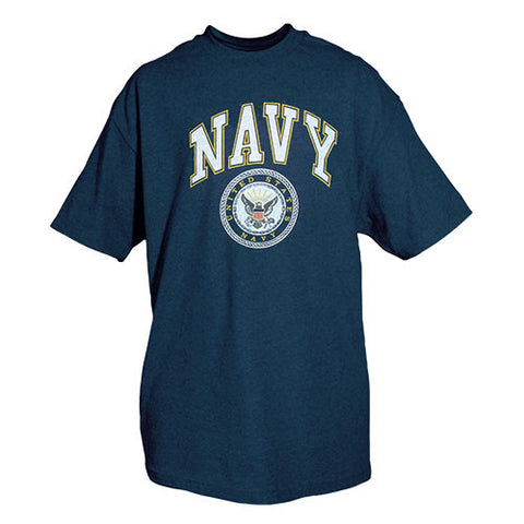Navy Crest T-Shirt Blue - Indy Army Navy
