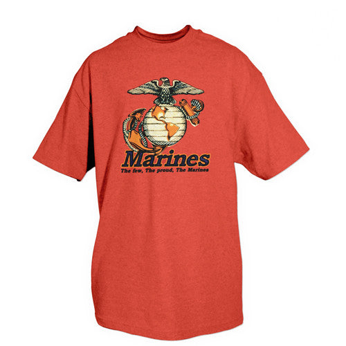 Red Marines Few Proud EGA T-Shirt