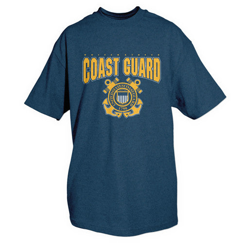 Navy Coast Guard Crest T-Shirt - Indy Army Navy