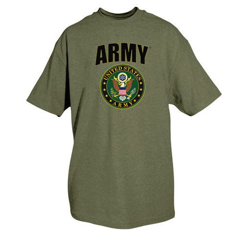 Olive Army Crest T-Shirt - Indy Army Navy