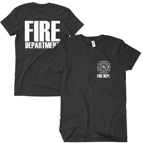 Fire Department T-Shirt Black