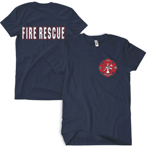 Navy Fire Rescue T-Shirt - Indy Army Navy
