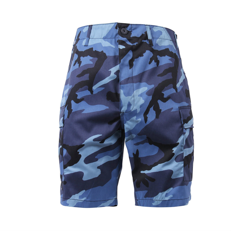 Sky Blue Camouflage BDU Shorts - Indy Army Navy