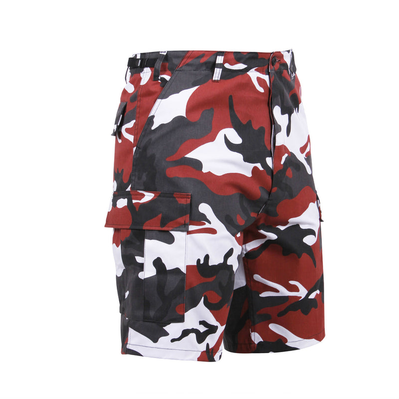Red Camouflage BDU Shorts