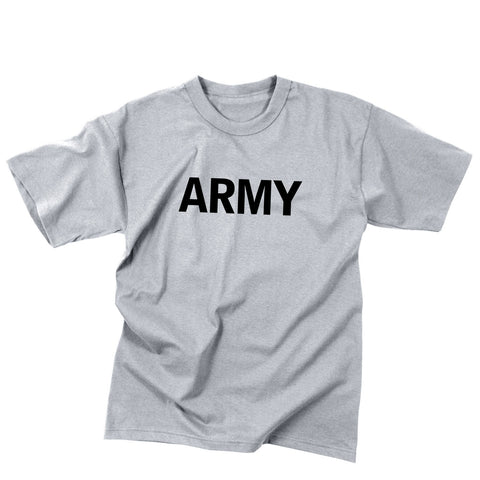 Kid's Army Physical Training T-Shirt Grey