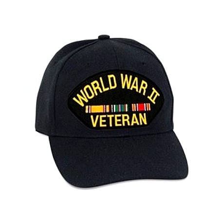 WWII Vet Europe Hat Black