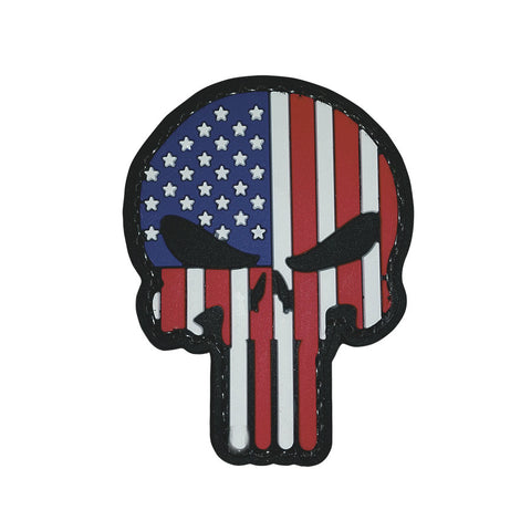 Patriotic Punisher Hook & Loop PVC