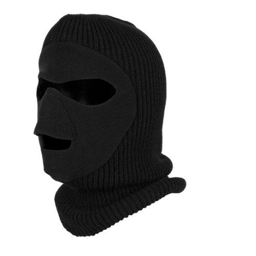 Knit / Fleece Face Mask Black