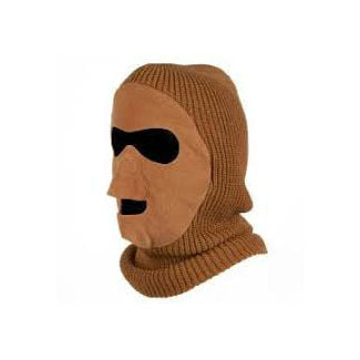 Knit / Fleece Face Mask Duck Brown