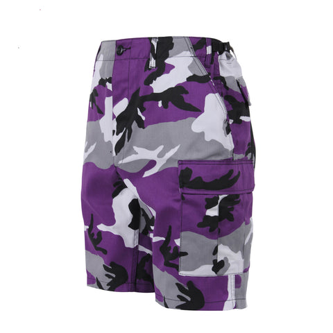 Ultra Violet Purple Camouflage BDU Shorts - Indy Army Navy
