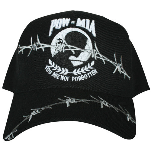 POW / MIA Embroidered Hat Black