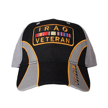 Iraqi War Veteran Hat Black / Grey