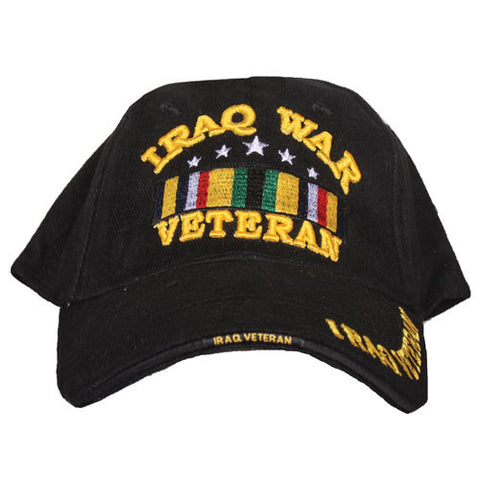Black Iraq War Veteran Embroidered Hat