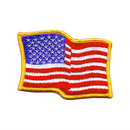 US Wavy Iron On Flag Patch