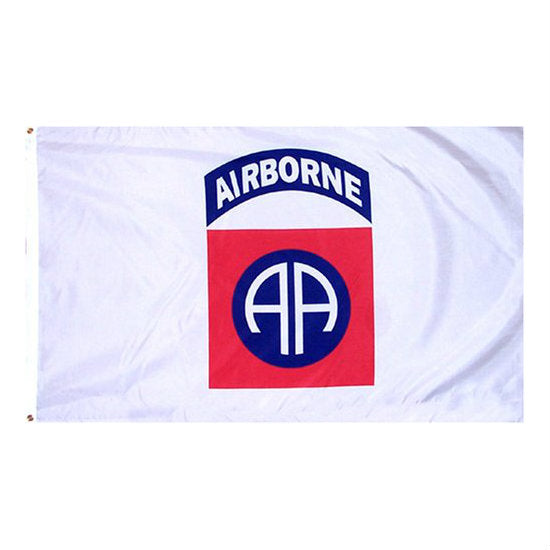 White 82nd Airborne Flag 3' x 5' - Indy Army Navy