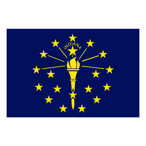 Indiana State Flag 3'x5'