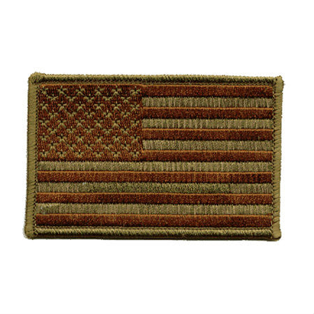 US Green / Black Iron On Flag Patch