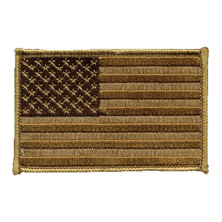 US Desert Brown Iron On Flag Patch