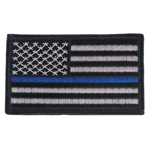 Police Memorial Velcro US Flag Patch