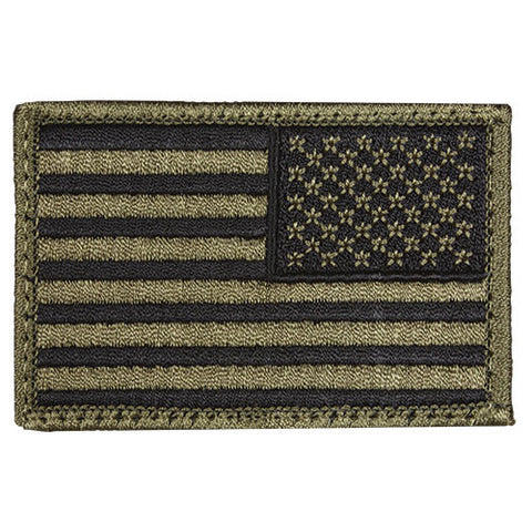 Olive Reverse Hook & Loop US Flag Patch - Indy Army Navy