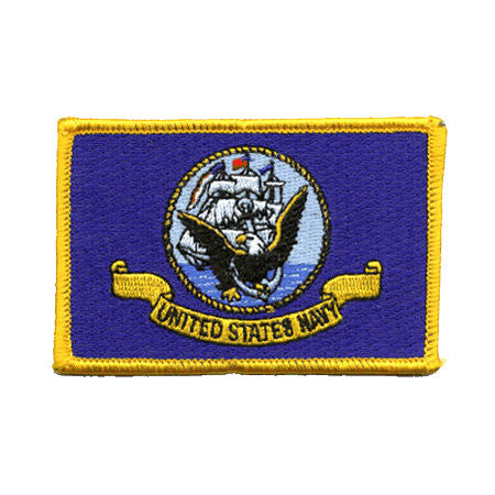 Navy Flag Iron On Patch - Indy Army Navy