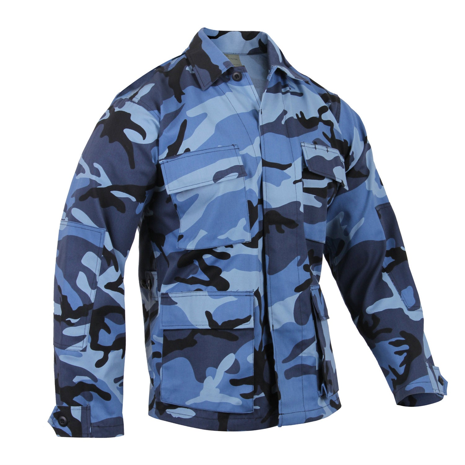 Sky Blue Camouflage BDU Shirt - Indy Army Navy