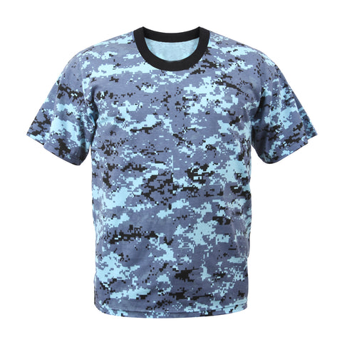 Digital Sky Blue Camouflage T-Shirt