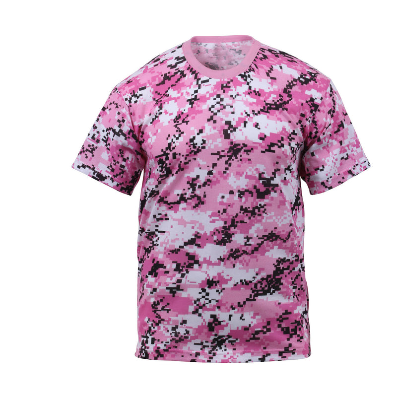 Digital Pink Camouflage T-Shirt