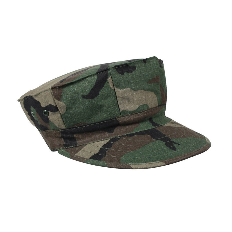 8 Point Marine Hat Woodland Camouflage No Emblem