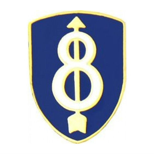 8th Infantry Division Hat Pin (3/4 Inch)