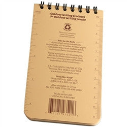 "Rite in the Rain 935T All Weather Universal Notebook Tan 3""x5"""