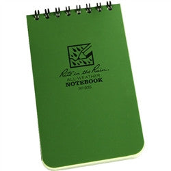 "Rite in the Rain 935 All Weather Universal Notebook Green 3""x5"""