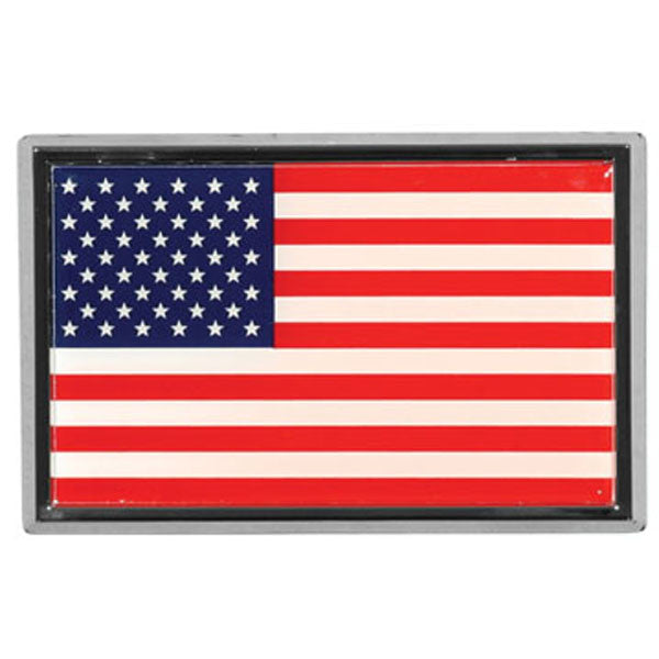 Chrome US Flag Auto Emblem