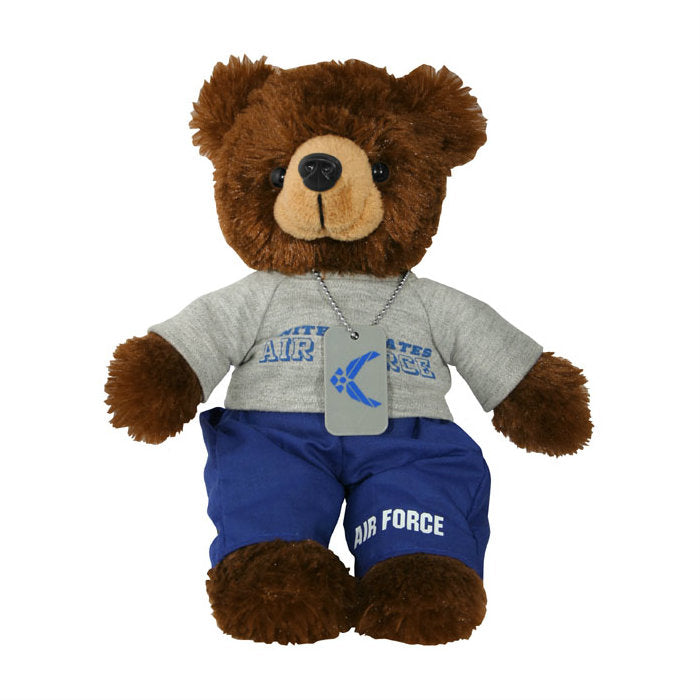 Air Force PT Outfit With Dog Tag Bear