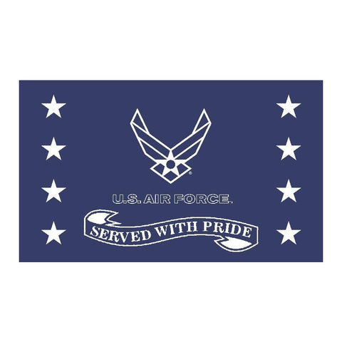 Air Force Served With Pride Flag 3' x 5'