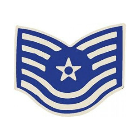 Air Force Tech Sergeant (TSGT / E-6) Hat Pin (1 1/8 Inch)