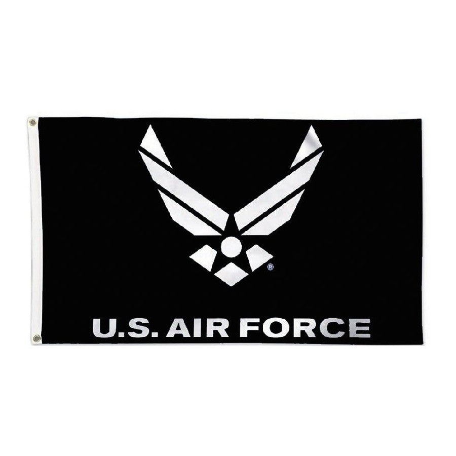 Air Force Wing Flag Black 3' x 5'