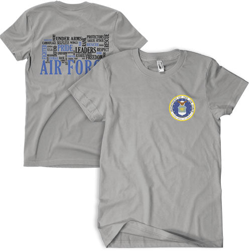 Air Force Words T-Shirt Grey