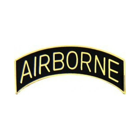 Airborne Tab Hat Pin Black (1 Inch)