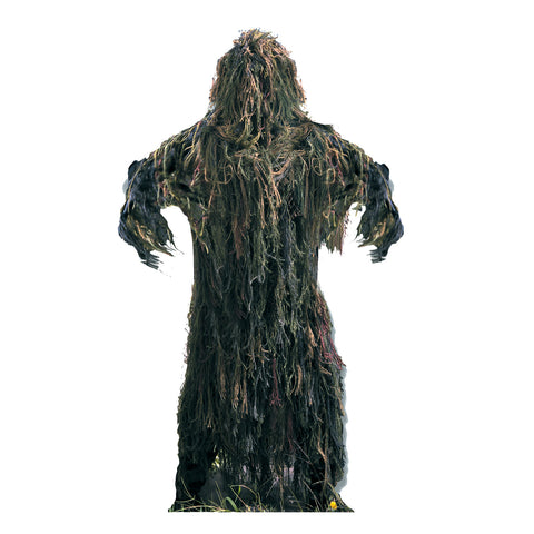 All Purpose 2 Piece Ghillie Suit Woodland Camouflage