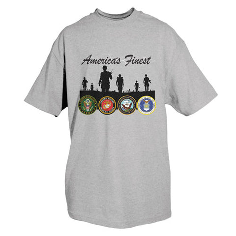 America's Finest T-Shirt Grey